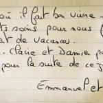 Emmanuel & James (Livre d'Or)